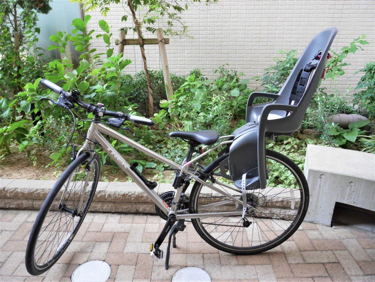 クロスバイクに子乗せチャイルドシート